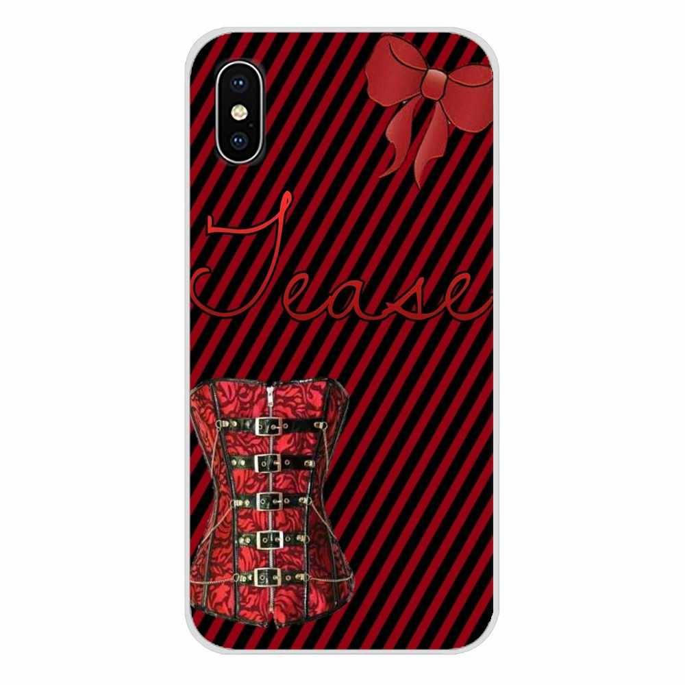 Для samsung Galaxy A5 A6S A7 A8 A9S звезда J4 J6 J7 J8 Prime Plus 2018 Винтаж сексуальный корсет для девочек краски ТПУ прозрачный чехол