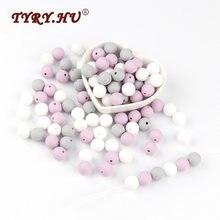 TYRY. HU 12mm Silikon Perlen 30 stücke Runde Baby Zahnen Perlen BPA FREI Baby Mordedor Perle Silikon Dentition Für Halskette, der