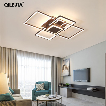 Acylic Chandeliers Square Rings For Living Room Bedroom Home AC85-265V Dimmable with remote