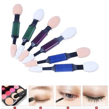 10 unids/set belleza doble cepillo de sombra de ojos de esponja de maquillaje herramienta Color aleatorio