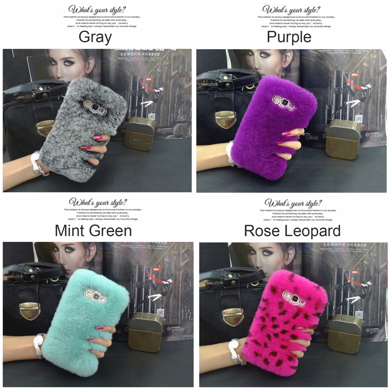 imágenes para Fashion Genuine Rex Rabbit Fur Mullido Coque Cubierta Caja Del Teléfono Para Samsung Galaxy A5 A7 A8 A9 2016 A3 A310 A510 A710 A810 A910
