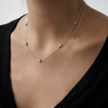 2017 925 sterling silver 41+5cm extend chain AAA+ bling cubic zirconia cz yard of Cross charm thin chain delicate necklace silve(China)