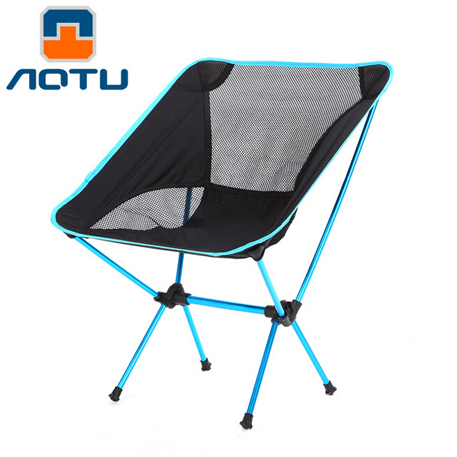 AOTU Aluminum Oxford Mini Portable Folding Outdoor Camping Hiking Fishing Picnic BBQ Beach Foldable Deck Chair Stool Lounge Seat