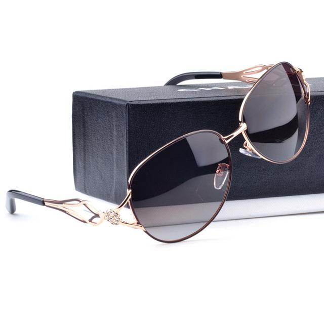 Mulheres Famosa Marca De Luxo Óculos De Sol das Mulheres Óculos Polarizados Óculos de Sol Da Moda Óculos de Sol Para A Condução Do Carro Fêmea Esportes Pesca