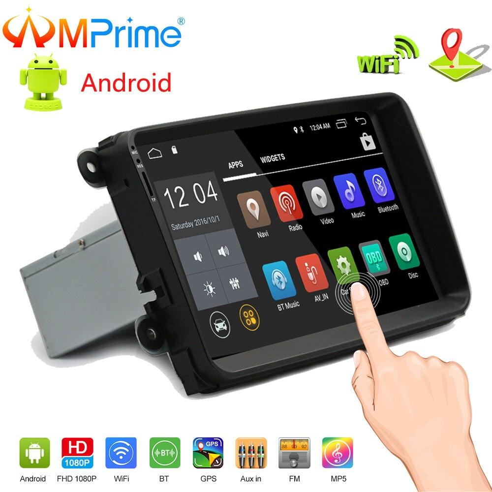 AMPrime 9 ''Android Car Radio Stereo di GPS di Navigazione Bluetooth Wifi Specchio Link 2 Din Touch Lettore Multimediale Lettore Audio per VW