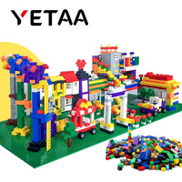YETAA Bulk Assorted Shapes & Colors Building Bricks Legoed figures DIY Building Blocks Minecraft Construction Toys for Children