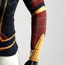Raglan Sleeve Spiderman 3D Printed T shirts Men Compression Shirts 2018 Character Comics Tops For Male Cosplay Costume Clothing
