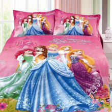 Комплект постельного белья Принцессы Диснея, пододеяльники, один размер, для девочек, декор в спальню, 120x190 см, простыня, 2/3 шт