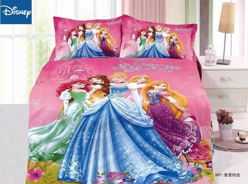 Disney Princess Bedding Set Duvet Covers Single Size For Girls Bedroom Decor 120x190cm Bed Twin Flat Sheet 2 3 Pcs Free Shipping Bedding Sets Aliexpress
