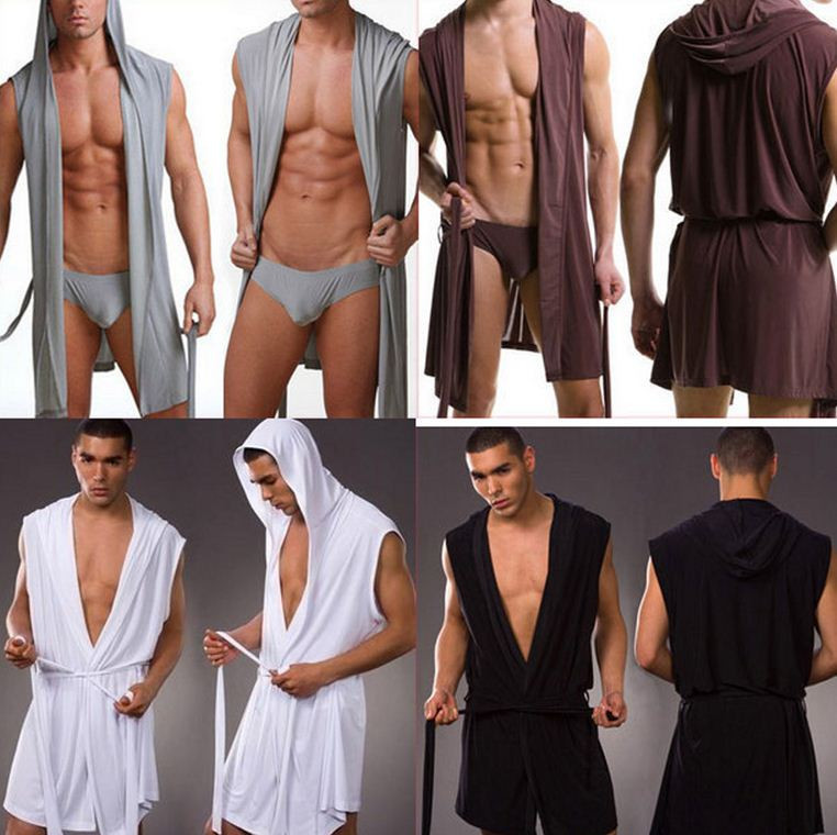 Men Robes Sleepwear Male Kimono Silk Sexy Plus-Size For Man High-Quality 1pcs