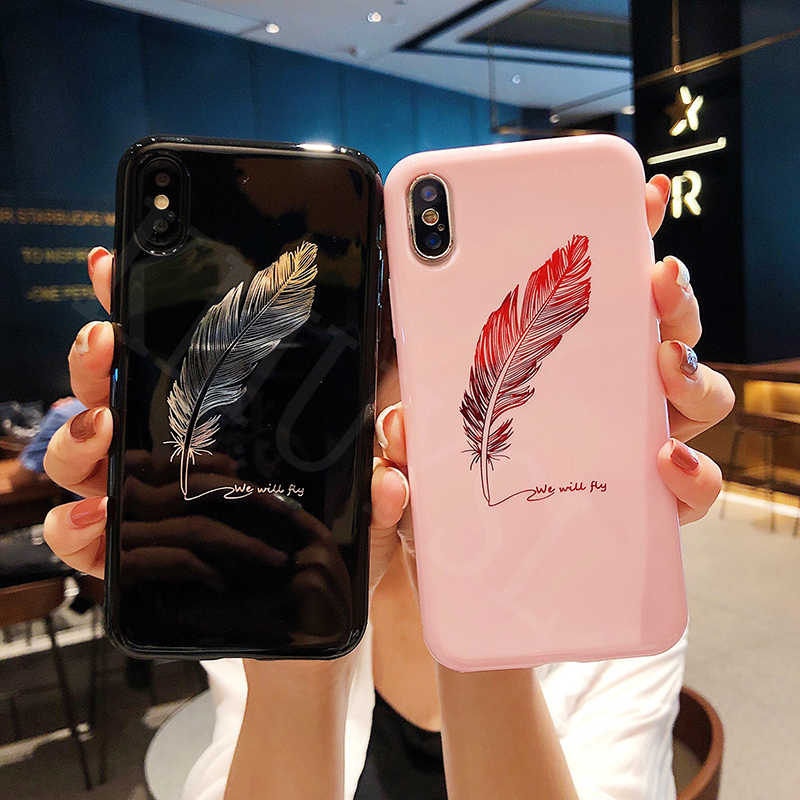 Crown King Queen Moon Stars Feather Case on For Huawei Honor 8X 7A 7C 9 10 lite V10 Play P20 lite Pro Nova 3 2S Y6 Y7 Prime 2018