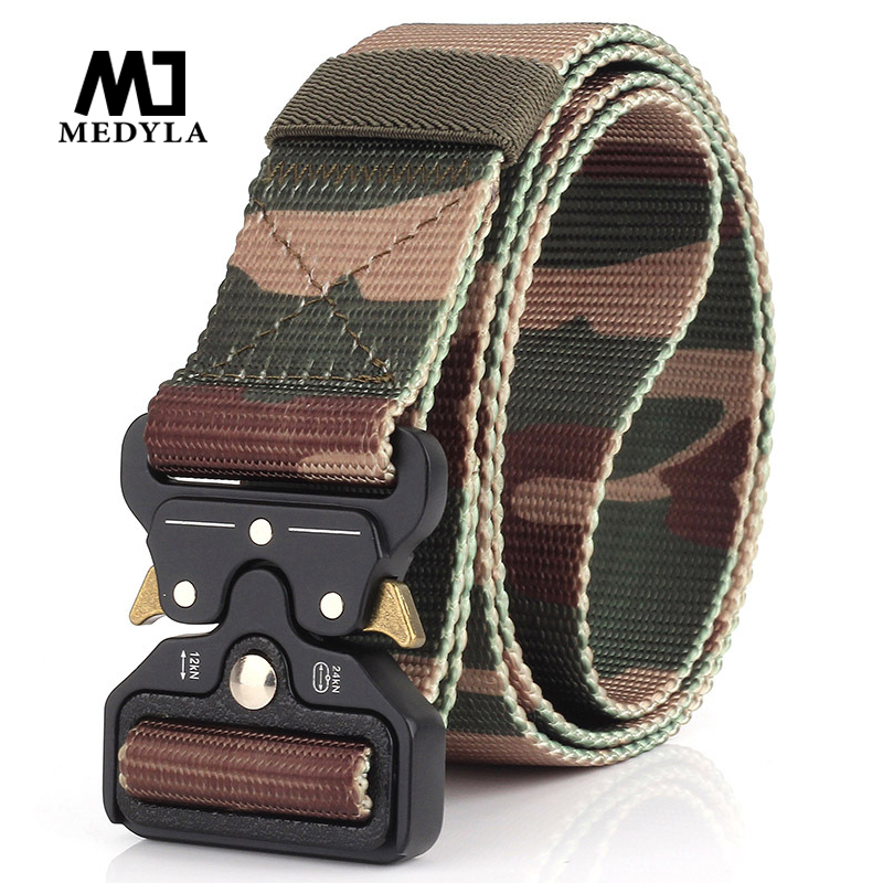 MEDYLA Heavy Duty Hunting Tactical Waist Belt Adjustable Nylon Military Tactical Belts With Metal Buckle Hunting Accessories