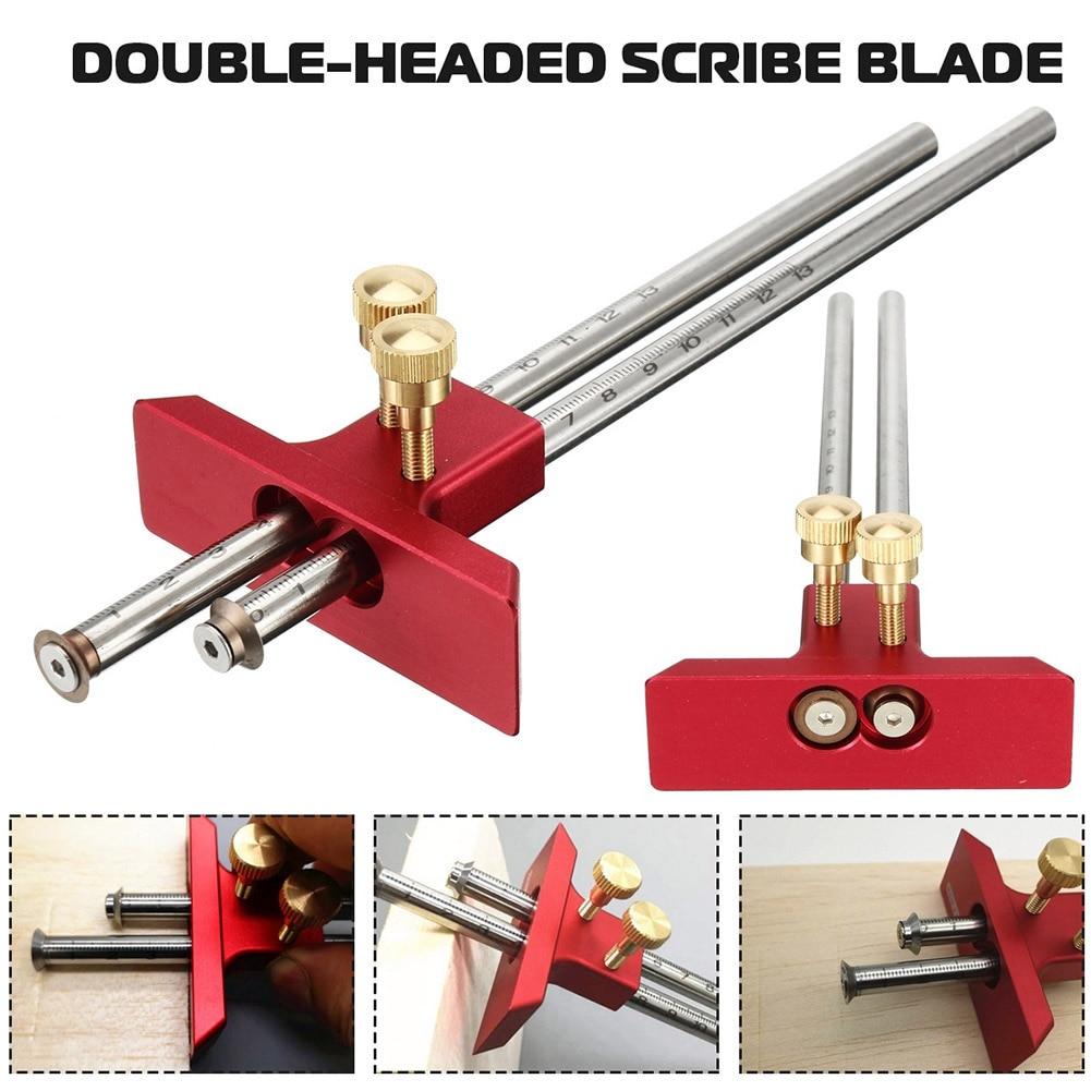 Digital Caliper Measuring Tool Woodworking Measurement Mark Tool Double Head Wood Marking Scriber MJJ88