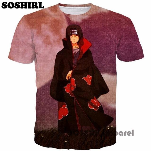 Anime Naruto One Piece Print 3D T-shirt