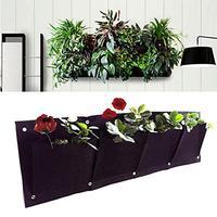 Крытый для вертикальных садов подвесной, настенный, садовый 4 кармана посадочные сумки посев, настенный цветник Растут Мешки 0