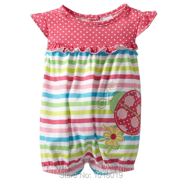Brand New Quality Summer 100% Cotton Ropa Bebe Newborn Baby Girl Clothing Clothes Romper Creepers Jumpsuits Baby Girls Rompers new 2017 brand quality 100% cotton newborn baby boys clothing ropa bebe creepers jumpsuit short sleeve rompers baby boys clothes