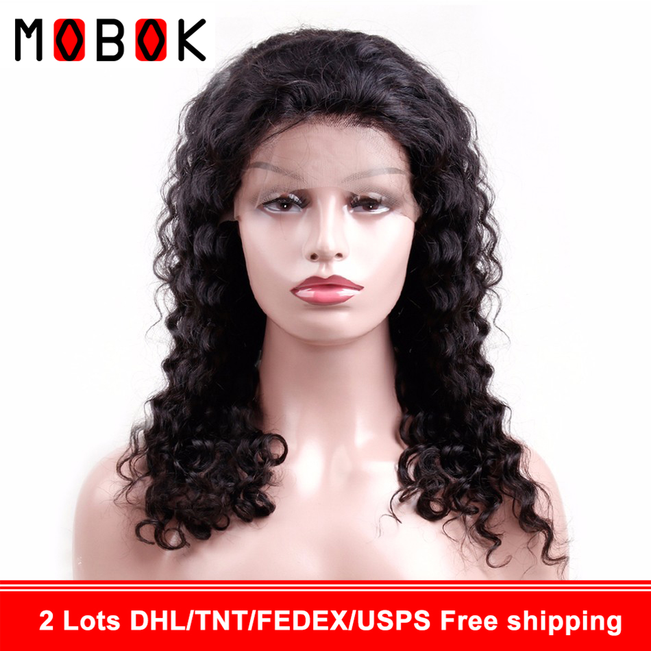 360 Lace Front Human Hair Wigs Pre Plucked For Women Brazilian Deep Wave Lace Frontal Wig With Baby Hair Remy Hair(China)