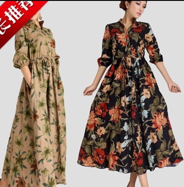 Cotton dresses long