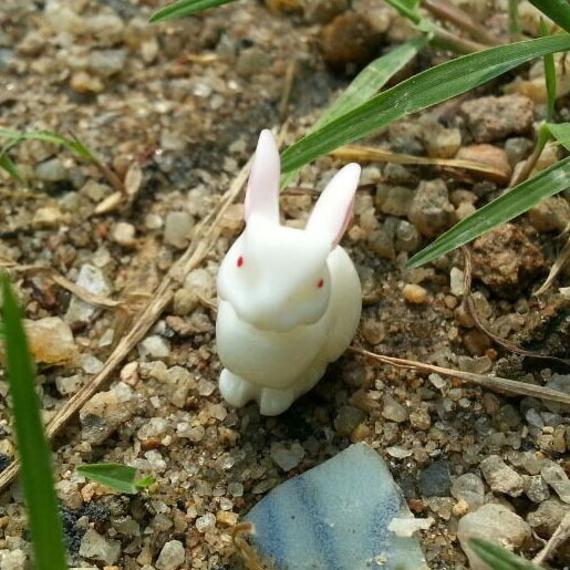 10pcs/lot Simulation Squatting Rabbit 13mm Solid Resins Kawaii Cabochon Crafts DIY