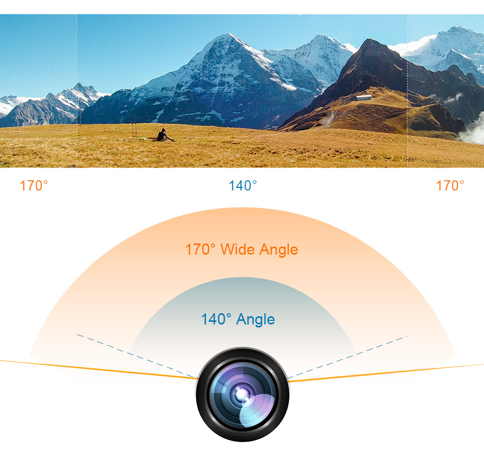 4K Best Action Camera wide angle