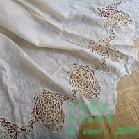 Width 1.3 meters DIY Handmade Skirt Accessories Embroidery Lace Fabric Bilateral Flower Lace Ribbons Mesh White Lace Trims