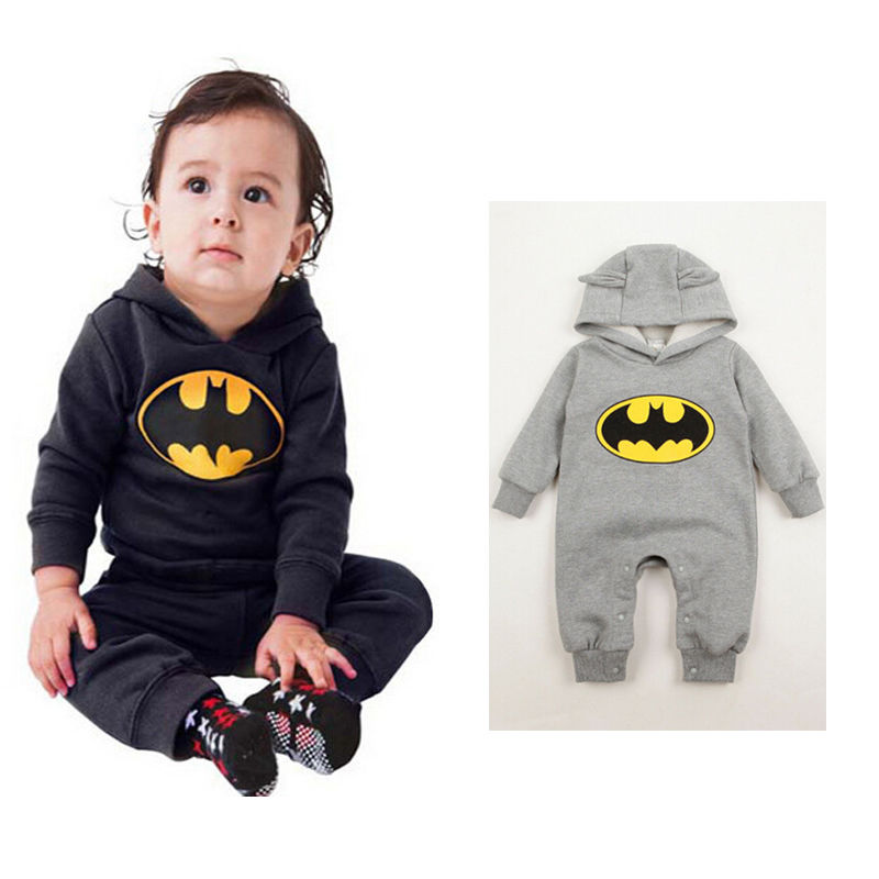 Lovely Baby Kids Boys Infant Batman   Romper   One-piece Outfits Clothes 3-24Months