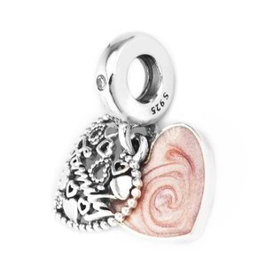 Image 2 - Genuine 925 Sterling Silver Beads Love Makes A Family Dangle Charm Fits Pandora Bracelet Fine Jewelry for Women DIY Making
