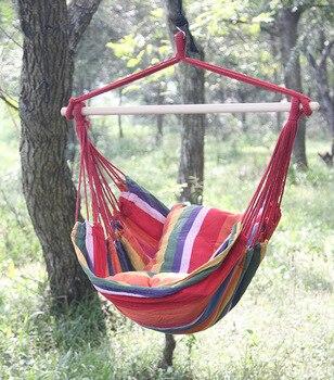Ipdtg 150 Cm 100 Cm Silla Columpio Algodon Viaje Camping Hamaca - Silla-columpio
