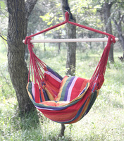 IPDTG 150cm*100cm Swing chair Cotton Fabric Travel Camping Hammock Courtyard outdoor adult swing Wild camping hanging bed