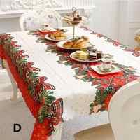 Weihnachten Tisch Abdeckung Rechteck Druck Tischdecke für Restaurant Haushalt Dekoration Kaminsims Mesa Tischdecke