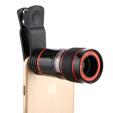 PERAK 8x Zoom Telephoto Lens for iPhone 7 6 6s plus 5s SE Samsung Huawei XIAOMI LG smartphones camera lens Universal Clip Holder