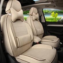 Delantero y Trasero Cubierta Cubierta de Asiento de Coche Asientos para Volvo XC60 Tela de lino Amortiguador Del Coche Cubre Asiento de Coche Airbag Compatible Negro Protector