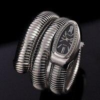 Luxury Crystals Snake Bangle Watches Women Fashion Infinity Bracelet Watch Vogue Girls Brand Designer Quartz Clock