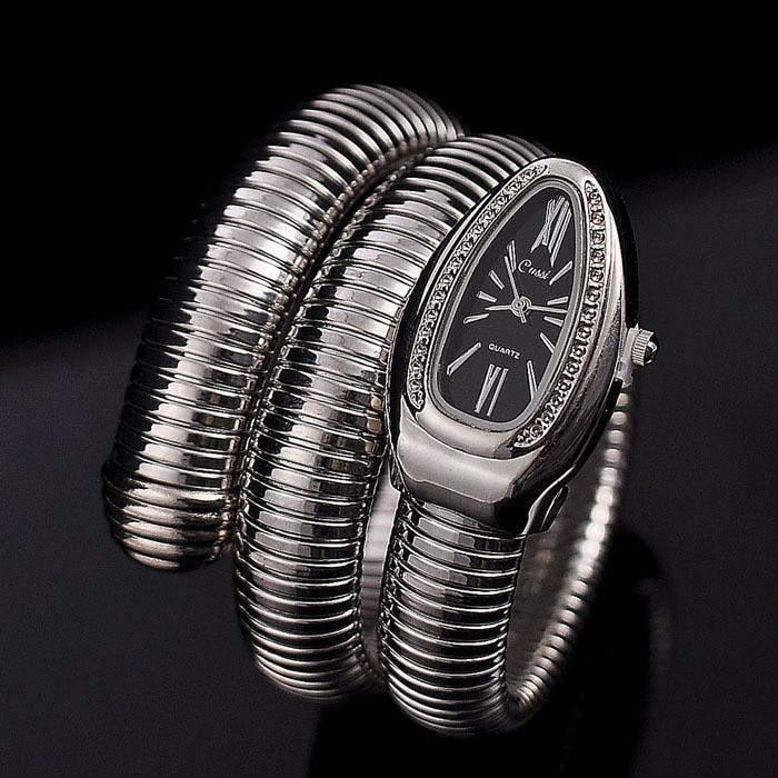 Prix pour Cristaux de luxe Serpent Bracelet Montres Femmes De Mode Infinity Bracelet Montre Vogue Filles Marque Designer Quartz Horloge Relojes NW404