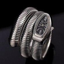 Cristales de lujo de La Serpiente Brazalete Relojes Mujeres Moda Infinito Pulsera Reloj Vogue Niñas Diseñador de la Marca de Cuarzo Reloj Relojes NW404