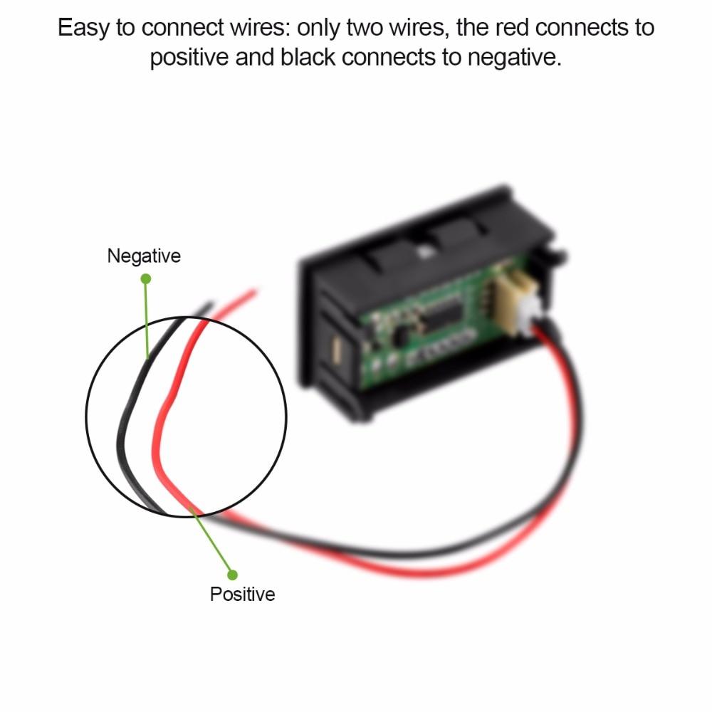 Hohe Qualität Digital Voltmeter Rote LED Panel mit Zwei draht ...