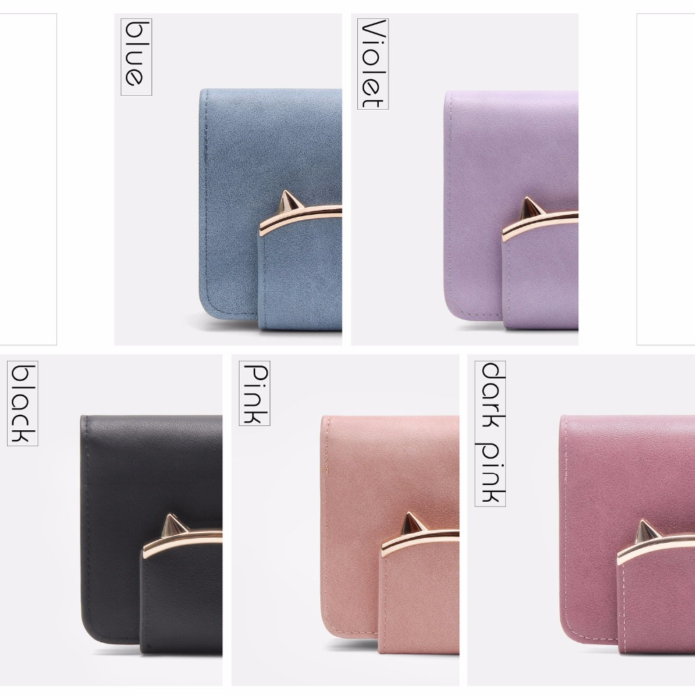 Daenerys Womens Wallets Purses With Clutch And Zipper Short Female Tassel Leather Ladies Multi Card Holder Cute Cat For Girls in Wallets from Luggage Bags