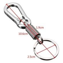 1pcs Stainless steel Gourd Buckle carabiner keychain Waist Belt Clip
