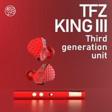 TFZ/KING iii,Dynamic Driver Monitor In-ear earphones,2pin 0.78mm HIFI Detachable earphone, Adopt TFZ third generation sound unit недорого