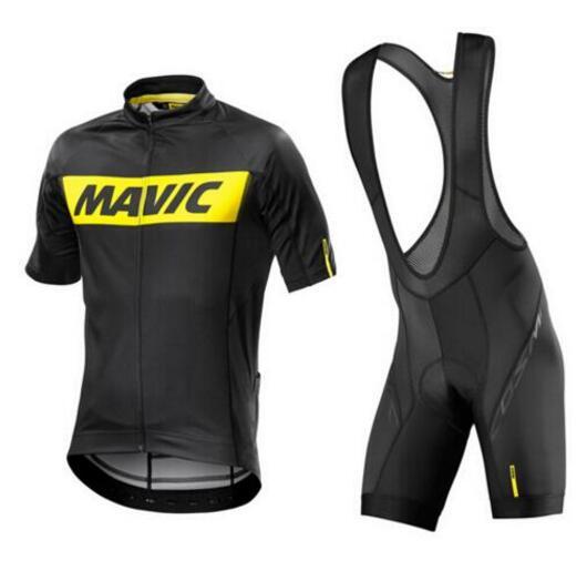MAVIC Pro Sommer Radfahren Jersey Sets 9d Gel Gepolsterte Bike Shorts Atmungs Pro Radsportbekleidung Jersey Maillot Ciclismo Grünen