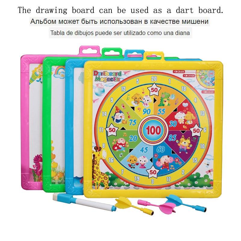 Daugiafunkcinis smiginis ir piešimo lenta Kūdikių vaiko rašymo lenta Plastikiniai dažų padėklai Doodle rašymas tapybos smiginis Žaislas vaikams