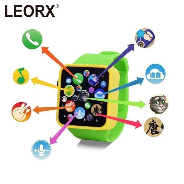 Dzieci Dzieci Wczesna Edukacja Zabawki Wrist Watch 3D Ekran Dotykowy Muzyki Inteligentny Nauczania Dziecko Hot Sprzedaży Prezenty Urodzinowe 3 kolory - aliexpress