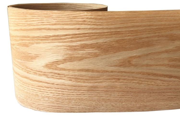 2x Natural Wood Sliced Red Oak Veneer Backing With Tissue Furniture Veneer 20cm X 2.5m C/C