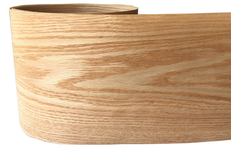 Natural Genuine Wood Veneer Sliced Red Oak Backing With Tissue Furniture Veneer 20cm X 2.5m C/C