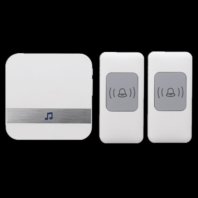CACAZI 2 A9 AC 75 250V Wireless Doorbell 2 Waterproof Buttons+1 Ring