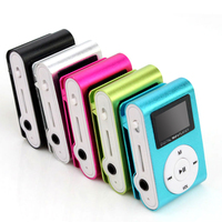 wholesale Superior Mini USB Metal Clip MP3 Player LCD Screen Support 32GB Micro SD TF Card Slot Digital mp3 music player