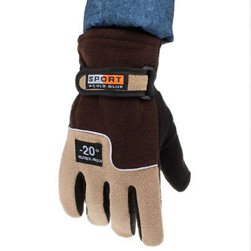 1pair New Arrival Winter Warm Windproof Waterproof -20 Degreesski Gloves Motorcycle Snowboard For Men Male Brown Wide Selection;