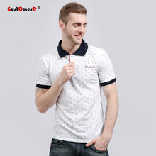 GustOmerD 2018 Moda de Nueva Marca hombres Polo camisa de impresión Floral  de manga corta Slim Fit Polo hombre camisa hombres . c7b205cd6de9c