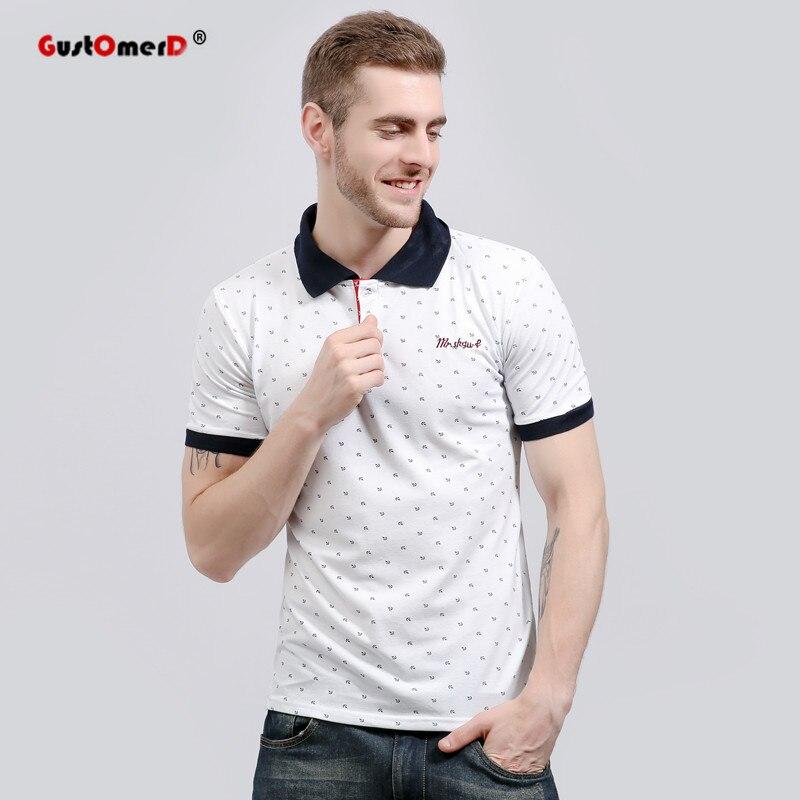 GustOmerD 2018 New Fashion Brand Men   Polo   Shirt Floral Print Short-Sleeve Slim Fit   Polo   Mens Shirt Men   Polo   Shirts Casual   Polo