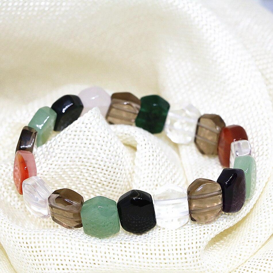 7 сочетание стиля-камень высокого качества strand бусы браслет натуральный камень Агат кварц нефрит тигровый глаз бусины ювелирные изделия 7.5 ...